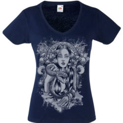 Vneck snake Blue Girl