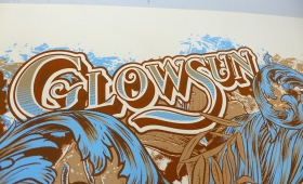 Glowsun poster tour 2014 process